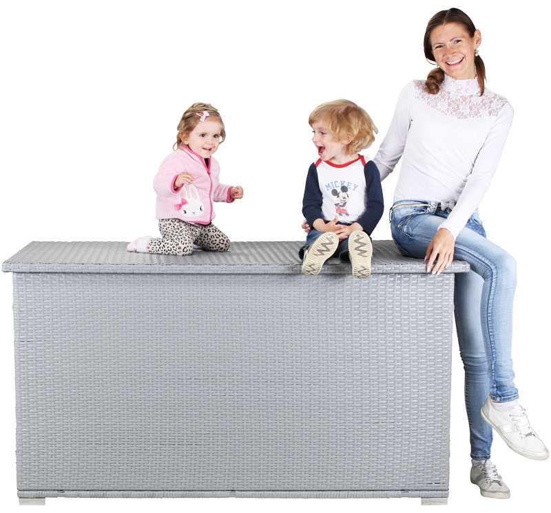 Polyrattan Auflagenbox Grande 950 Liter