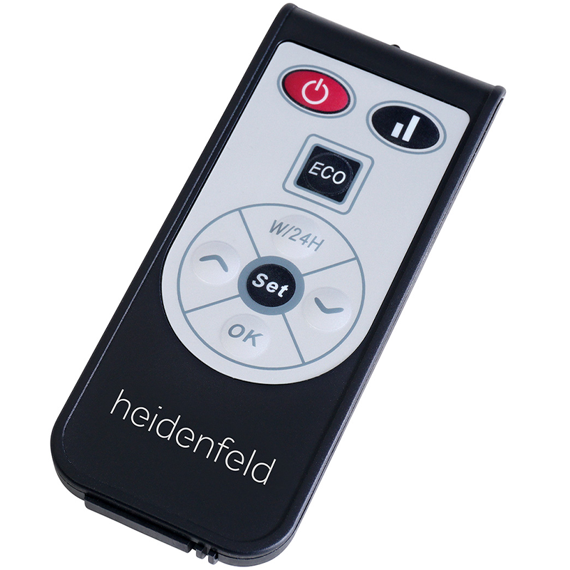Heidenfeld Elektroheizkörper HF-GK100C, Curved Glaskonvektor / Konvektorheizung, 2000W