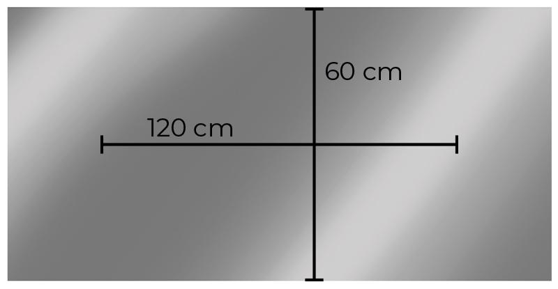 Lustro grzewcze Heidenfeld prostokątne HF-HS100