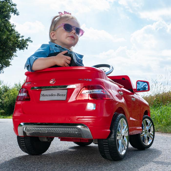 Kinder Elektroauto Mercedes ML 350 Original Lizenz Mikrofon Kinder Spass