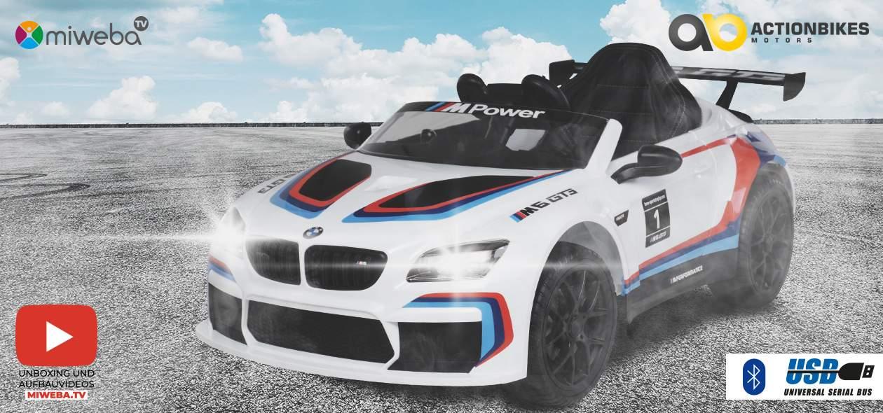 Kinder Elektroauto BMW M6 GT3 Lizenziert